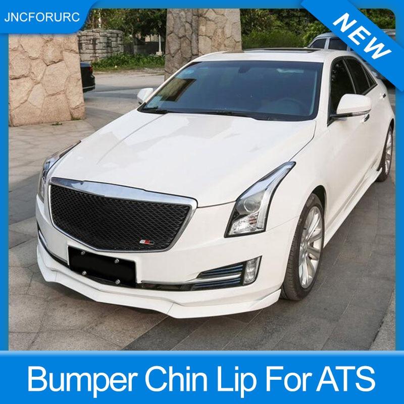 Front Bumper Lip Spoiler Cover Trim For Cadillac ATS 2015-2018 Carbon Fiber 3pcs