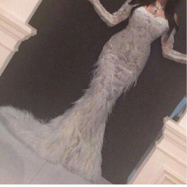 Yousef Designer Off The Shoulder Sweetheart Frisada Appliqued Penas Sereia Vestidos de Baile