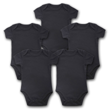 5PCS/Lot Baby Bodysuits Newborn Clothes Body Bebe Short Sleeve Black Summer Brand New Infant Jumpsuit Baby Girl Boys Clothes