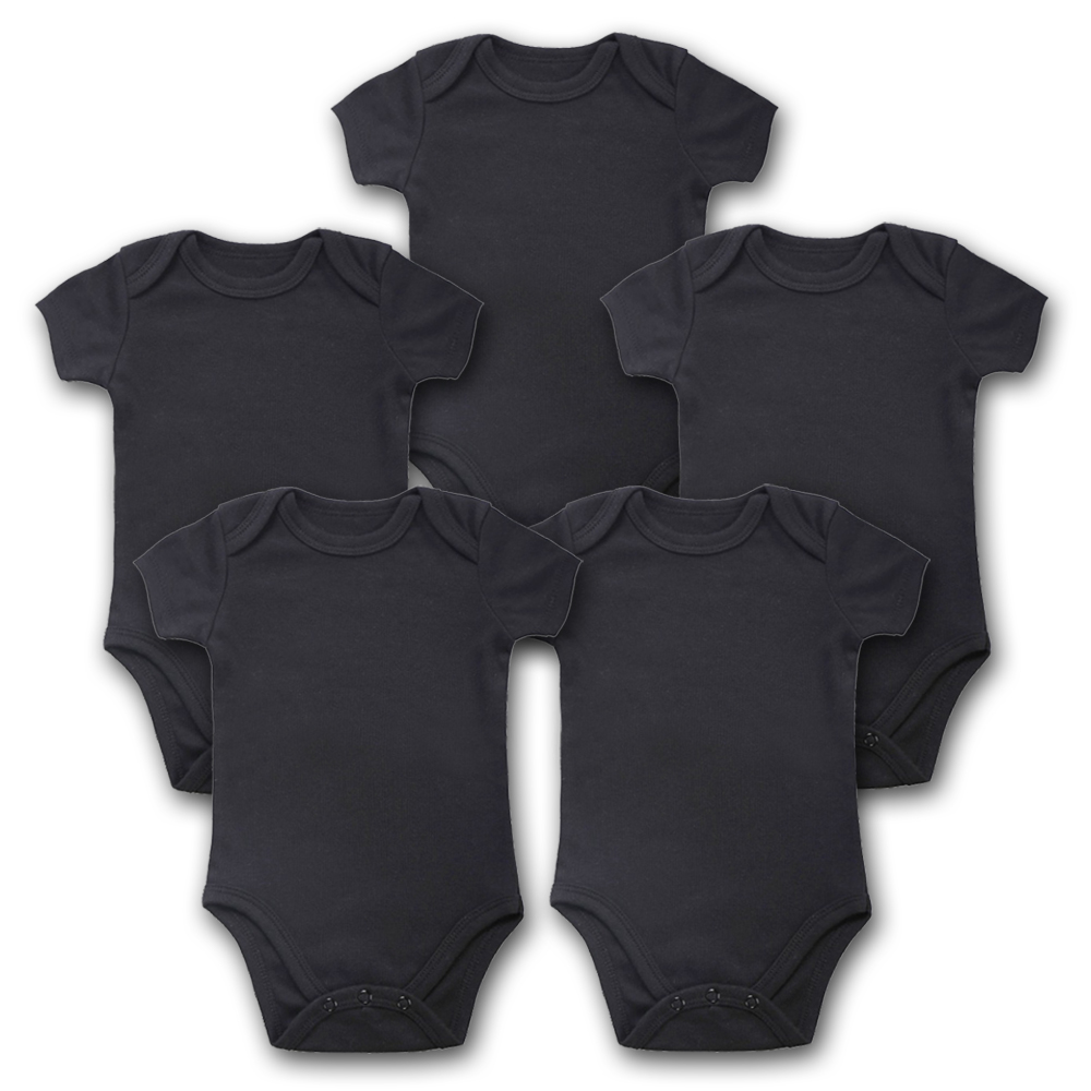 Baby Bodysuits Newborn Clothes 5PCS Lot Body Bebe Short Sleeve Black Summer Brand New Infant Jumpsuit Baby Girl Boys Clothing in Bodysuits from Mother Kids
