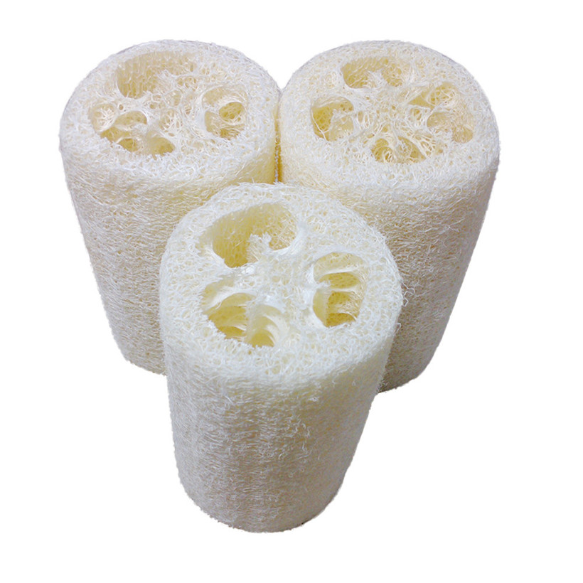 Free shipping New Natural Loofah Bath Body Shower Sponge Scrubber Pad Hot Bathroom Bathroom Accessories 2018