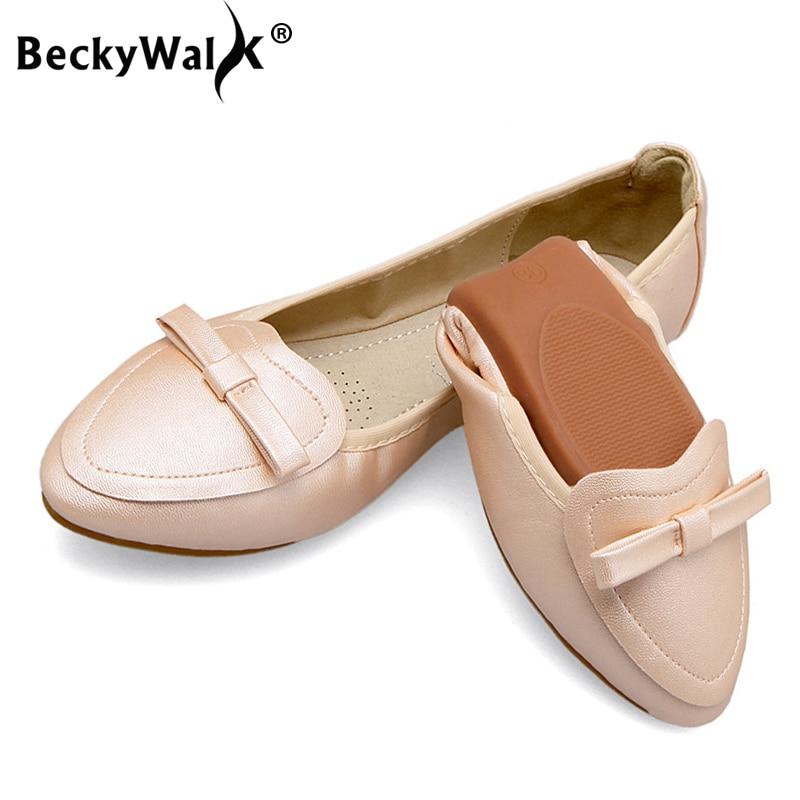 Wsh2521 Ballet rosado azul Zapatos Planos Cómodos Gran De Las 34 Plegable Moda Negro 2019 plata Casuales Mujer Retro 45 oro Mujeres Tamaño blanco nURwz