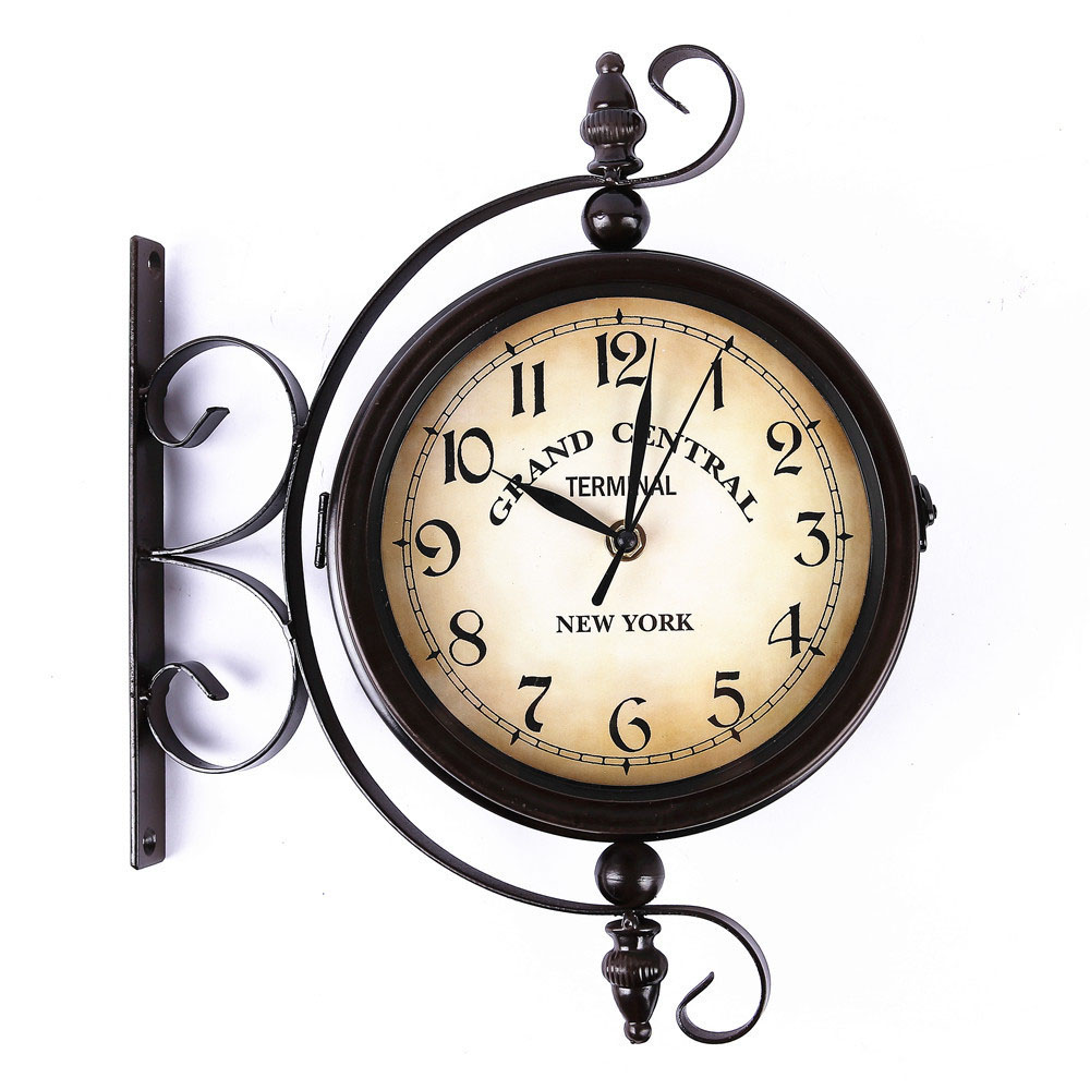 Popular double sided wall clock buy cheap double sided - Reloj de pared original ...