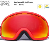 Snowboard Ski Goggles Double Layers Anti fog Lens Big Vision Photochromic UV400 Mask Winter Snow Snowmobile Skibril Eyewear