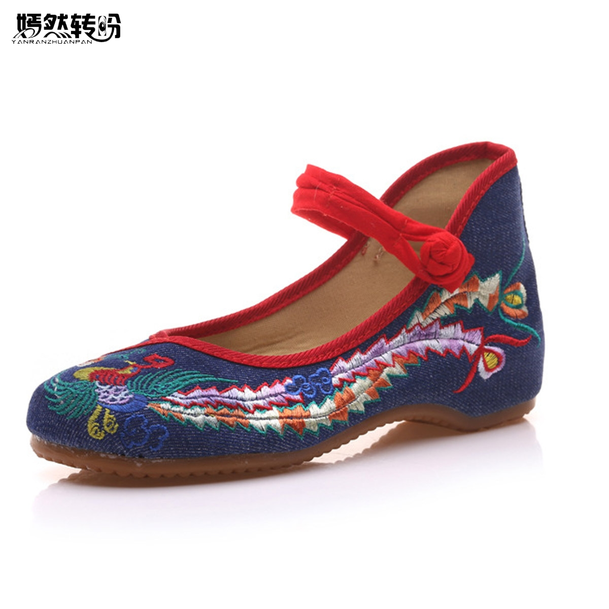 Women Flats Shoes Vintage Embroidered Shoes Woman Chinese Floral Loafers Zapatos Mujer Sapato Feminino Soft Sole Dance Ballet vintage embroidery women flats chinese floral canvas embroidered shoes national old beijing cloth single dance soft flats