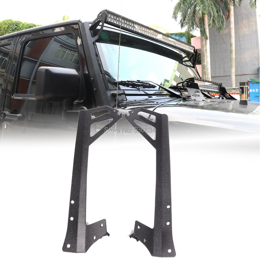 52 Inch Mount Bracket Straight LED Light Bar LED Light Bar Hood Mounting Bracket Steel for