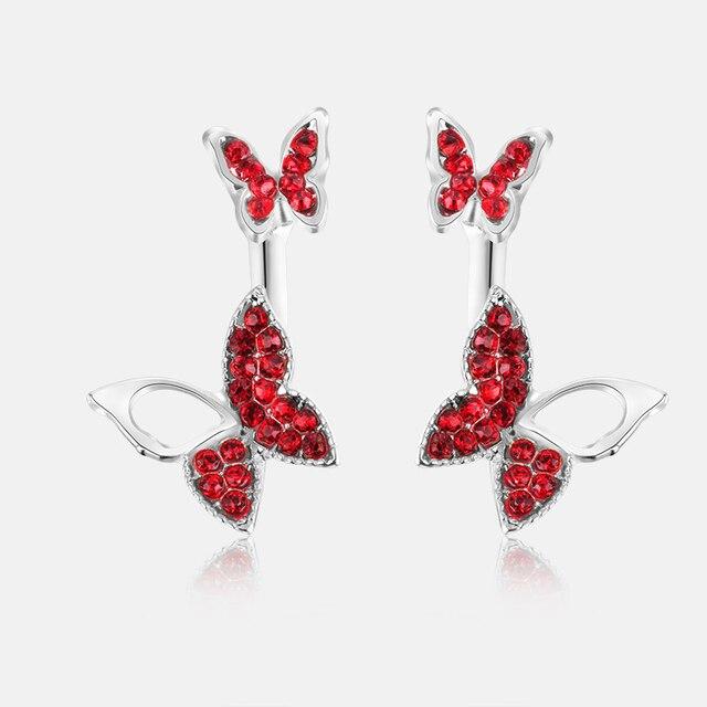 Manufacturers selling hanging butterfly earrings two wear fashion temperament Korean earrings fine jewelry for women 5