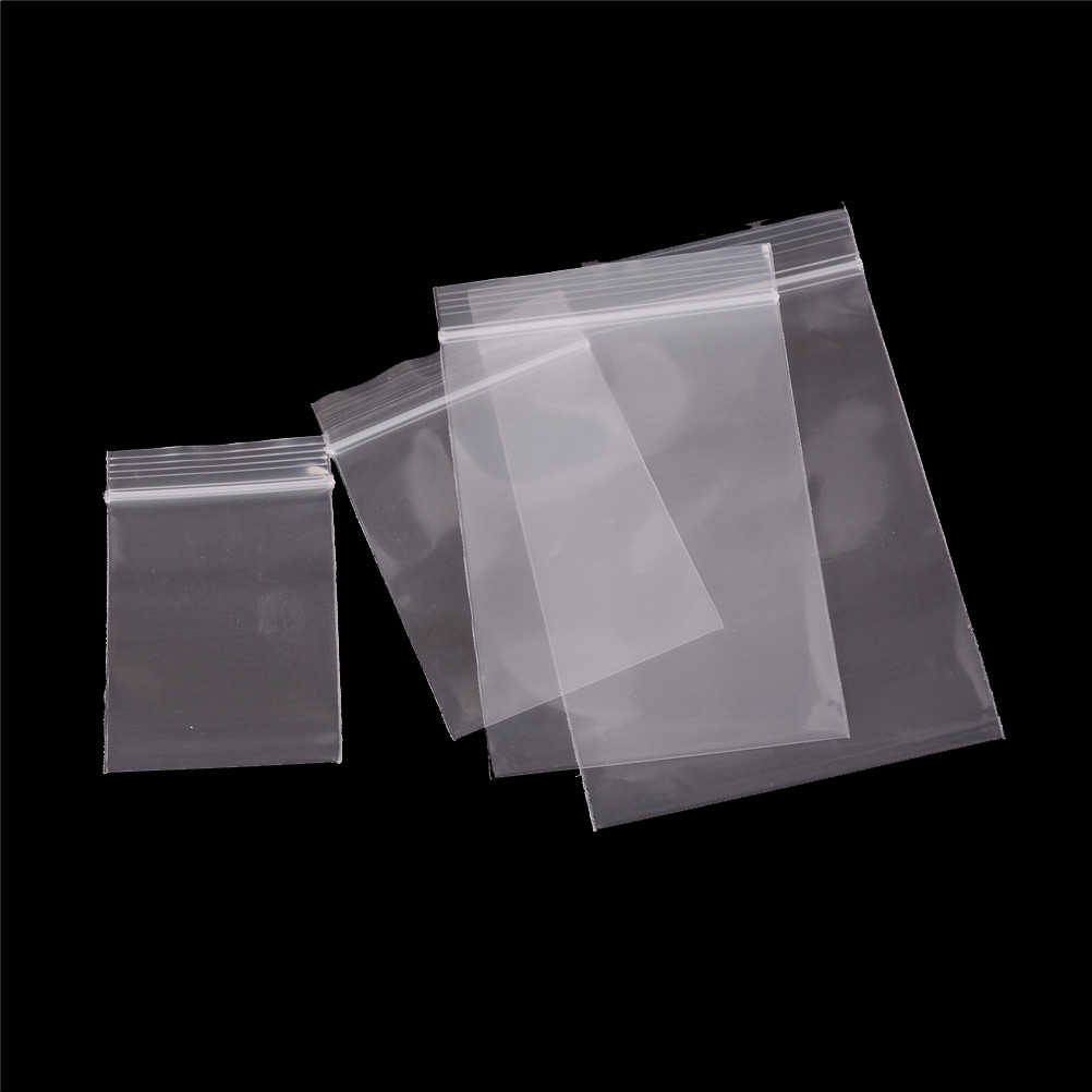 100pcs/pack Small Zip Lock Plastic Bags Reclosable Transparent Bag food Bag Vacuum Storage Bag Clear Bags Thickness 0.12mm