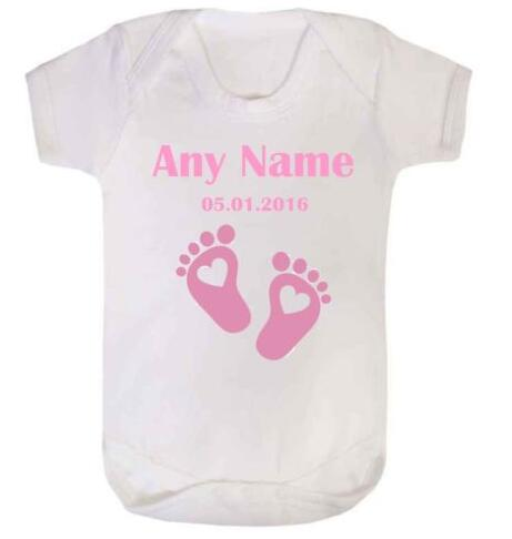 Personalised Embroidered Baby Vest Bodysuit Unisex Gift Baby Shower Clothes