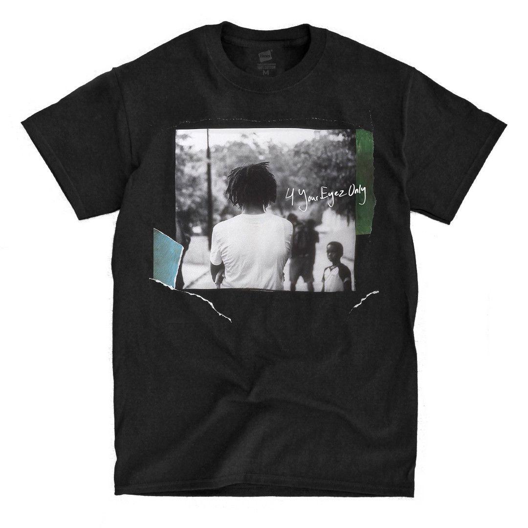 J Cole - 4 Your Eyez Only - Black T-Shirt Fashion Short Sleeve Sale 100 % Cotton Hot Sale Men T Shirt Fashion Top Tee