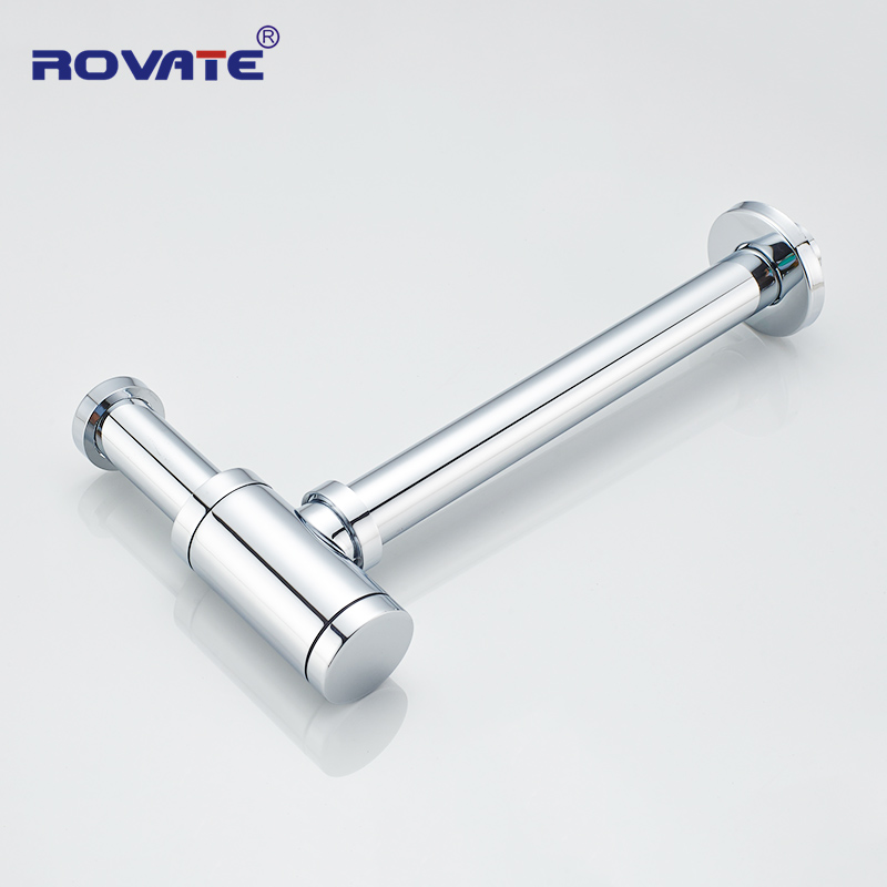 ROVATE Siphon Drainer Bottle Trap Deodorant Type Basin Water Drain Pipe Drainage Bathroom Sink Plumbing Tube