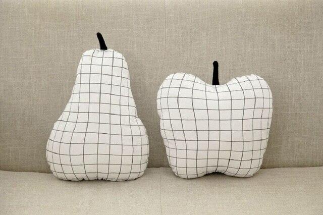 Wit plaid peren apple vorm kussen kinderkamer decoratie thuis