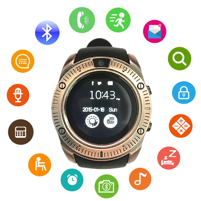 New Smart Watch Y1 plus Round touch screen Bluetooth 4.0 wristwatch Support 2G GSM SIM Smartwatch For IOS Android Samsung phone