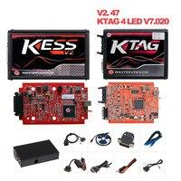 KESS V2 V2.47 V5.017 EU Red ECM Titanium Winols KTAG V2.25 V7.020 4 LED Online Master Version ECU OBD car/truck Programmer tool
