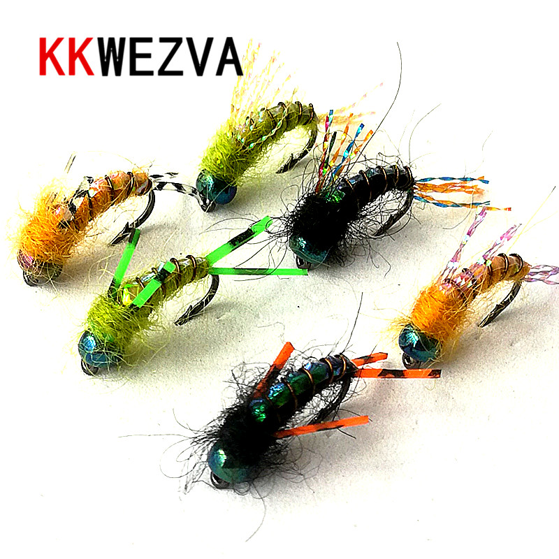 KKWEZVA 30PCS fishing fly lure Black hooks Bright Skin Material Nymph Spinner Dry Fly Insect Bait Trout Fly Fishing Flies Fishing Lures     - title=