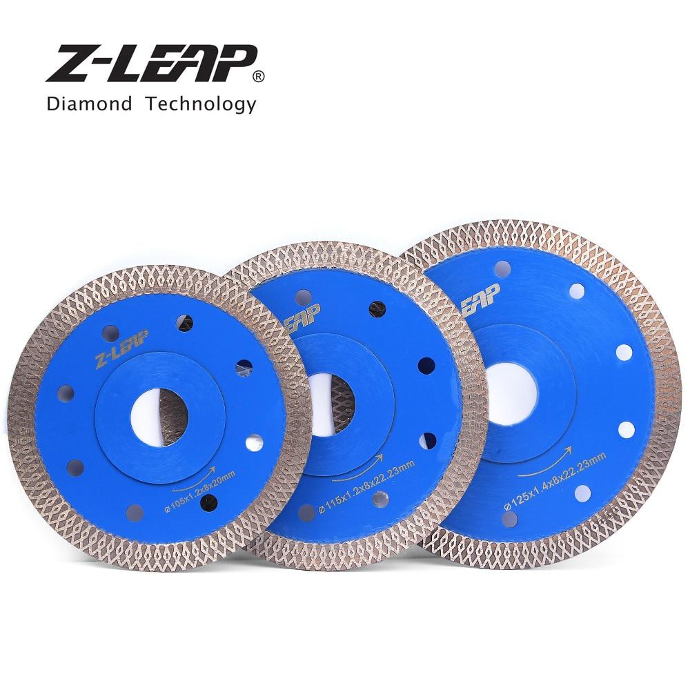 Z-LEAP 105/115/125MM Diamond Saw Blade Granite Marble Ceramics Cutting Disc Super Thin Turbo Circular Saw Blades Stone Cut Tools