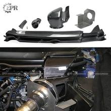 Carbon Cold Air Intake Set For Civic FD2 (2006-2011) Gruppe M Style Fiber Engine Vent Suit 5pcs Body Kit Racing Part