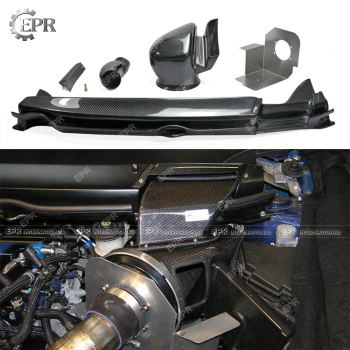 Carbon Cold Air Intake Set For Civic FD2 (2006-2011) Gruppe M Style Carbon Fiber Engine Air Vent Suit 5pcs Body Kit Racing Part