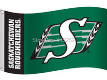 Saskatchewan Roughriders Flag 3×5 FT  Banner 100D Polyester CFL flag 1508, free shipping