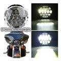 """Rodada Hi/low Feixe 75 w 7 Polegada Levou Farol 7 """"LEVOU rodada DRL head light lâmpada com branco para Harley Motocicleta para Wrangler Jeeep"""