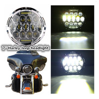 Round Hi Low Beam 75w 7 Inch Led Headlight 7 Round LED Head Light Lamp With