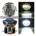 """Round Hi/low Beam 75w 7 Inch Led Headlight 7"""" Round LED head light lamp with white DRL for Harley Motorcycle for Jeeep Wrangler"""