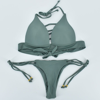 2018 Hot Bikini Sets Women Sexy Lace Up Multi Strings Brazilian Bathing Suits Swim Wear Thong Bikini Hollow Out African Swimwear 2