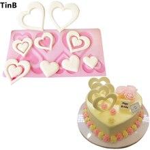 Подарок на день Святого Валентина, силиконовая форма-сердце, инструменты для украшения торта, силиконовая форма для рукоделия в форме торта, форма для шоколада, форма для кексов, трафарет для выпечки