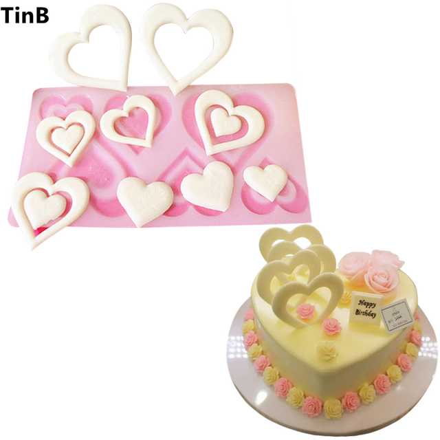 Valentine S Day Gift Heart Silicone Mold Cake Decorating Tools