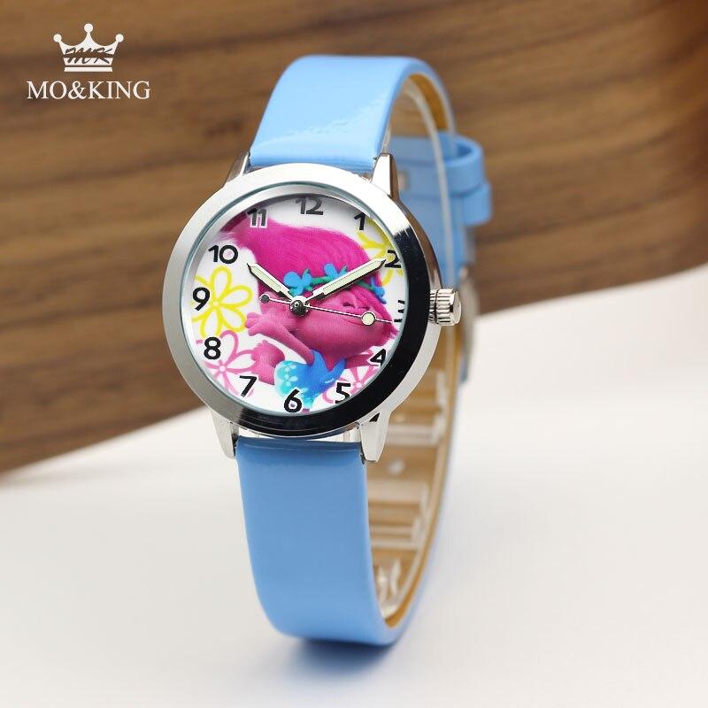 New Hot Sales Cute Flower Elf Cartoon Watches Children Girls Women Crystal Dress Quartz Wrist Watch Montre Enfant Mix Color