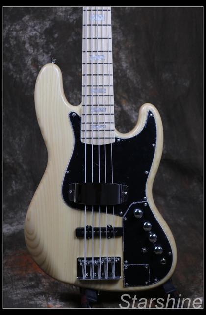 Jazz Bass 5 String Bass Guitar Z-ZV4 light ASH Body - Free Shipping  2