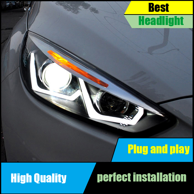 US $585 0 |Car Styling Head Lamp For Ford Focus MK3 Headlights 2015 2017  LED Headlight Assembly LED DRL Light Bi Xenon HID Accessories-in Car Light