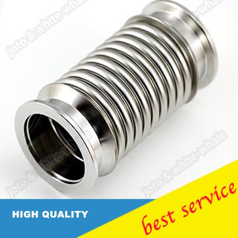 304 Stainless Steel KF25 High Vacuum Bellows Pipe lot of 4 set clamp kf25 with kf25 centering ring s s vacuum parts