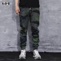 Fashion Men S Camo Joggers Pants Urban Style Mens Slim Fit Hip Hop Pants Drawstring Cuffed