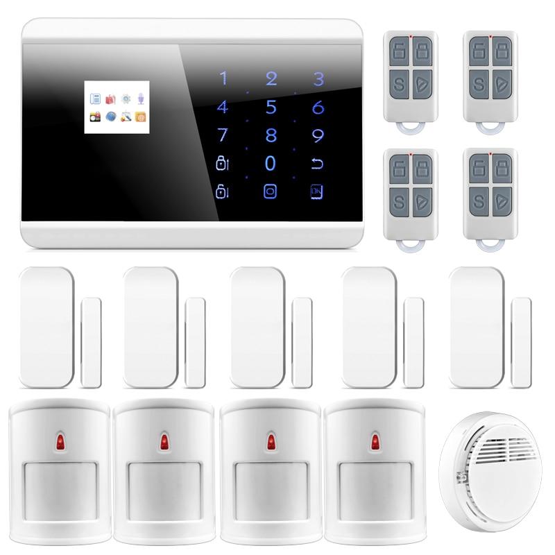 Pet-Friendly PIR Motion Sensor Wireless GSM PSTN Home Burglar Intruder Alarm System Phone APP Built-in Loud Siren