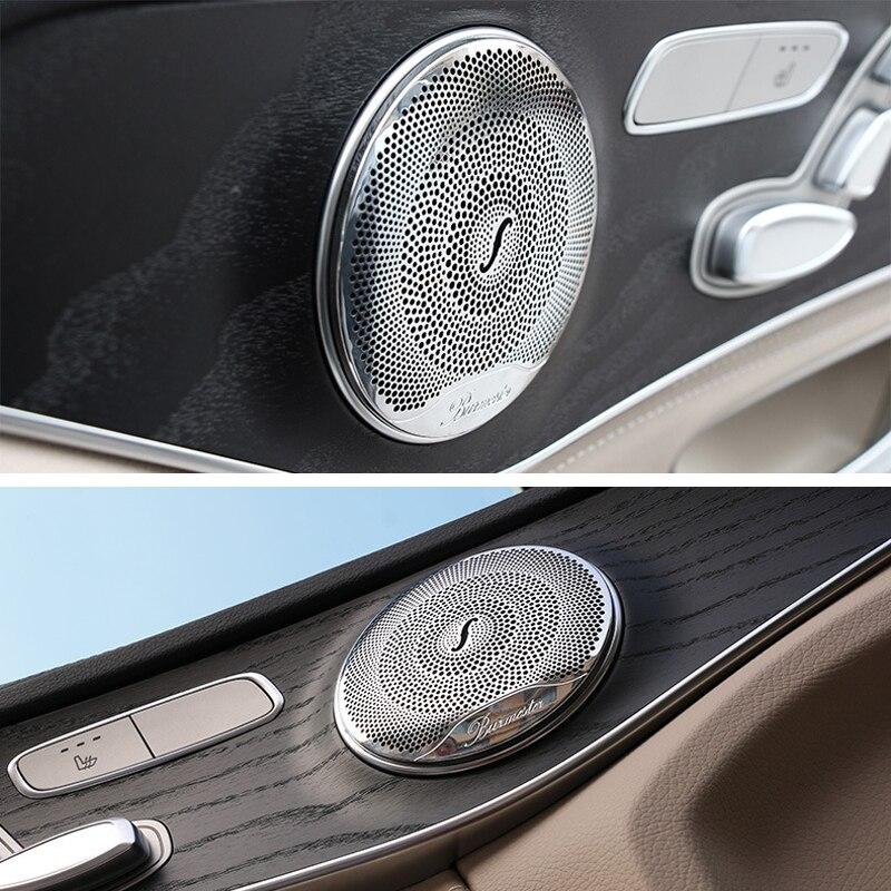 Car Audio Speaker Altifalante Tampa Tampa Guarnição Da Porta Guarnição Acessórios Do Carro interior para Mercedes Benz E/C/GLC classe W213 W205