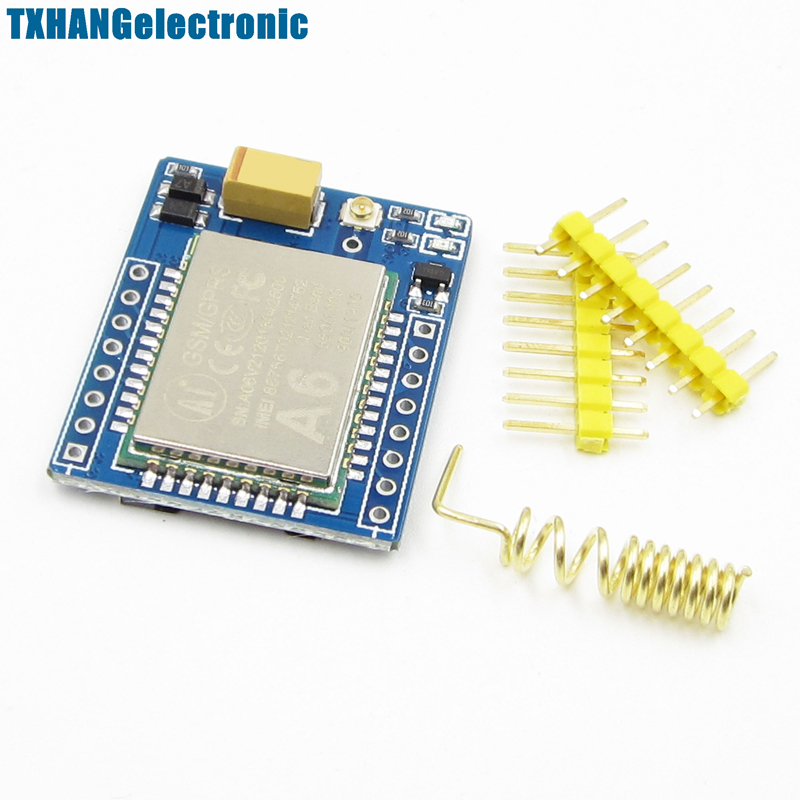 A6 Mini GSM/GPRS Development Quad-band Board SMS Audio Board 5V Replace SIM800LA6 Mini GSM/GPRS Development Quad-band Board SMS Audio Board 5V Replace SIM800L