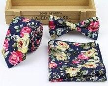 Hankerchief Scarves Vintage Cotton Hankies Men's Pocket Square Handkerchiefs Rose Flower Paisley