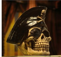 Skull bar cafe has an armor clad warrior haunted house restaurant cowboy model room for Halloween Crafts Arts decoration