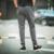 Homem tira calças basculador corredores 2017 da Forma dos homens Tira de Algodão Elástico Na Cintura Harem Longo PantsCamouflage TrousersMen Calças Basculador
