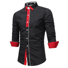 Brand 2018 Fashion Placket Male Shirt Long-Sleeves Tops British Business Casual  Shirt Mens Dress Shirts Slim Men Shirt XXXL