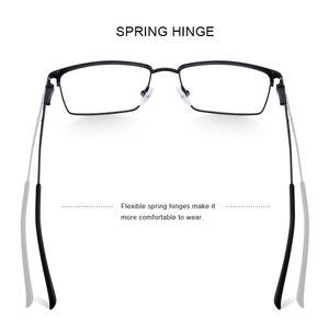 Image 3 - تصميم نظارات رجالية من ميريس إطار نظارات مصنوع من سبائك التيتانيوم فائق الخفة لوصف قصر النظر إطار بصري للرجال S2045