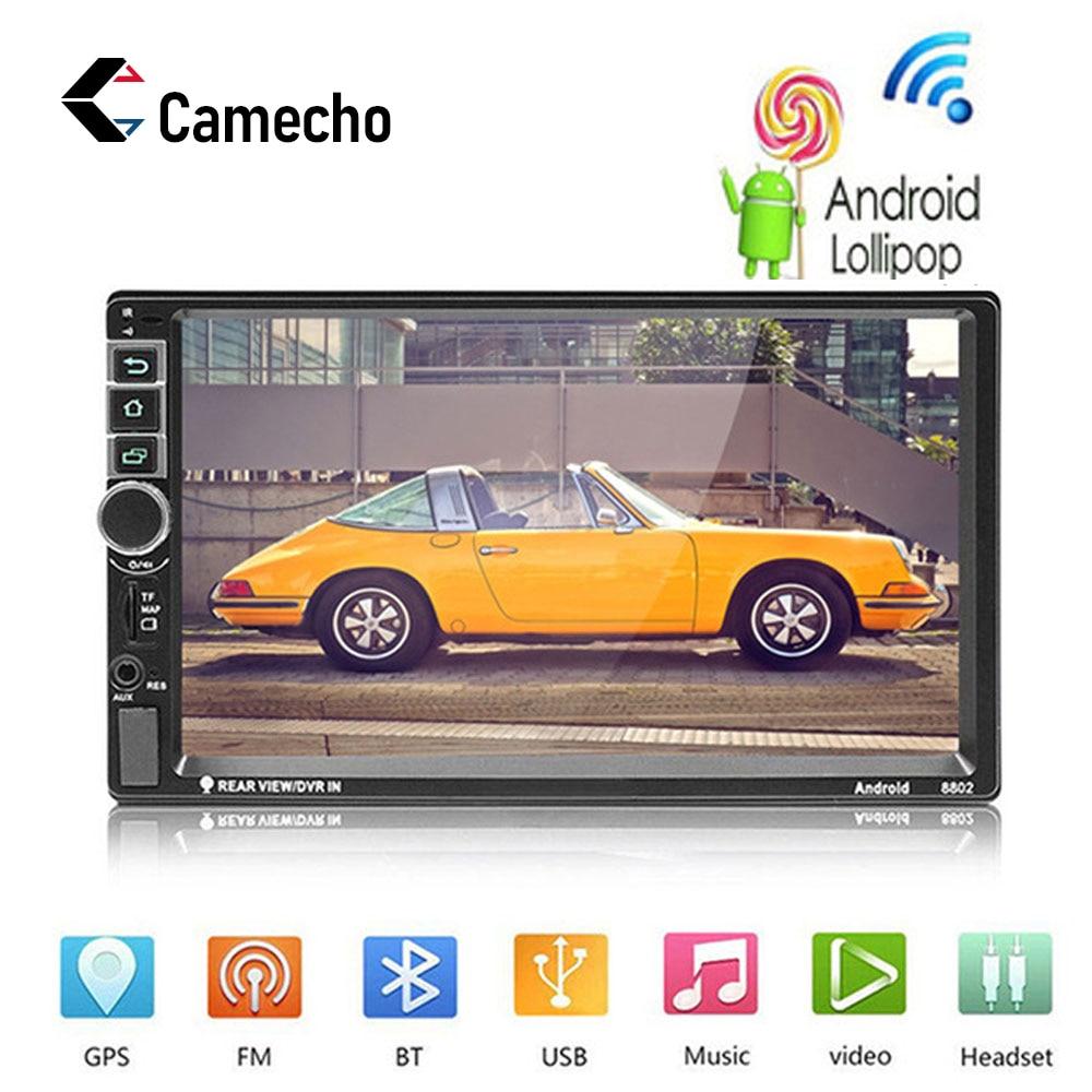 Camecho Autoradio Android 2 Din Autoradio GPS Navigation 2din lecteur multimédia voiture universel BT FM Mirrorlink Audio stéréo 8802