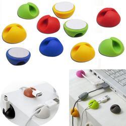 10 шт./лот, случайный цвет, зажим для кабеля, Настольный органайзер для проводов, держатель для шнура, органайзер, аксессуары для офисного сто...