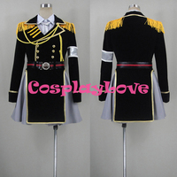 New Custom Made Japanese Anime K Project Neko Military Uniform Cosplay Costume CosplayLove Halloween ChristmasHigh Quality