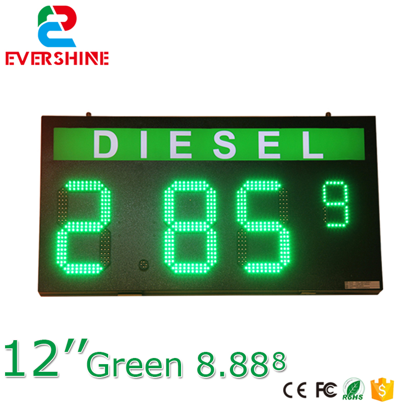 магазин asg для sti lawman green gas DLESEL 12 Green color led digita numbers module led gas price sign advertising board and led temperature and time display