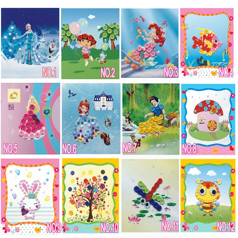 2016 children birthday beautiful n4 cards gifts cute diy buttons 2016 children birthday beautiful n4 cards gifts cute diy buttons painting do it yourself children hot sale toys in model building kits from toys hobbies solutioingenieria