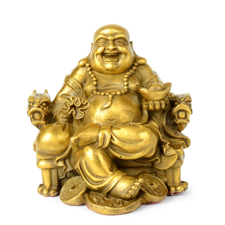 Opening Light Maitreya Copper Buddha Decoration Living Room Decor Study Figure Of Buddha Wealth Riches Fortune Statuette Crafts