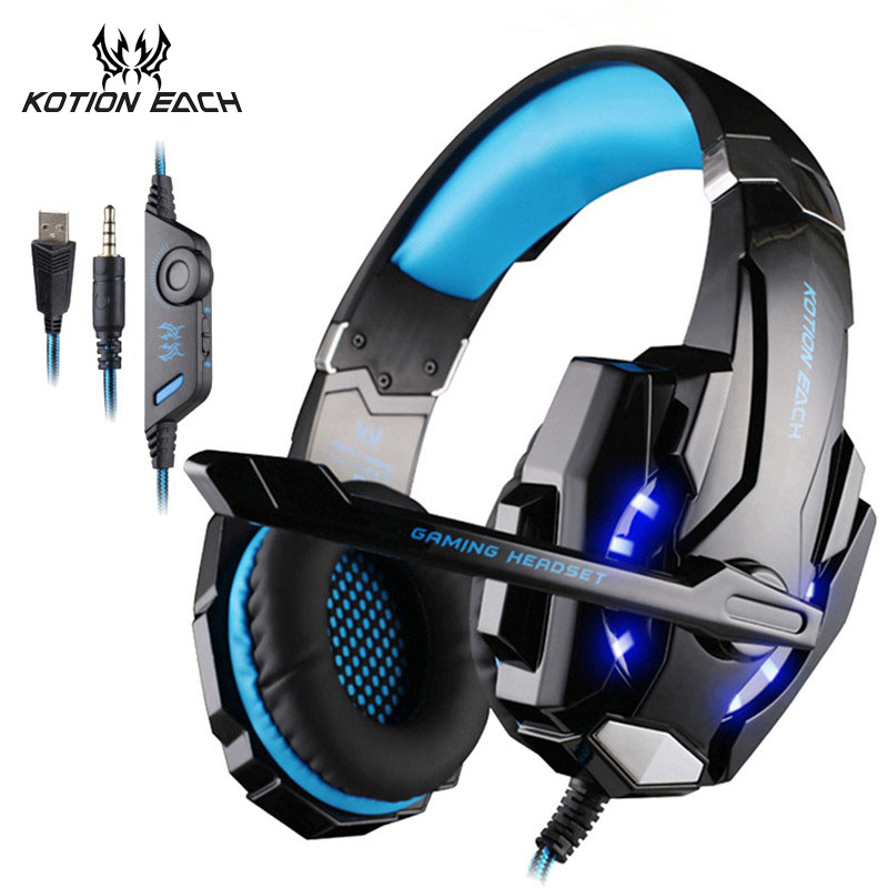 KOTION EACH G9000 PS4 Gaming Headset 3.5mm Bass Headphone Game Earphone With Microphone for PC Laptop Xbox One Mobile Phone star kingelon g9000