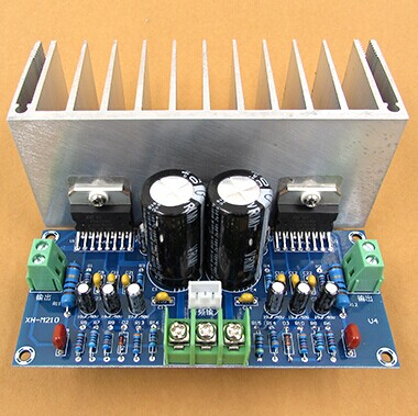 High quality and high power AC12-32V 2.0 channel TDA7293 100+100W HIFI Digital Stereo Audio <font><b>Amplifier</b></font> Board With Cable image
